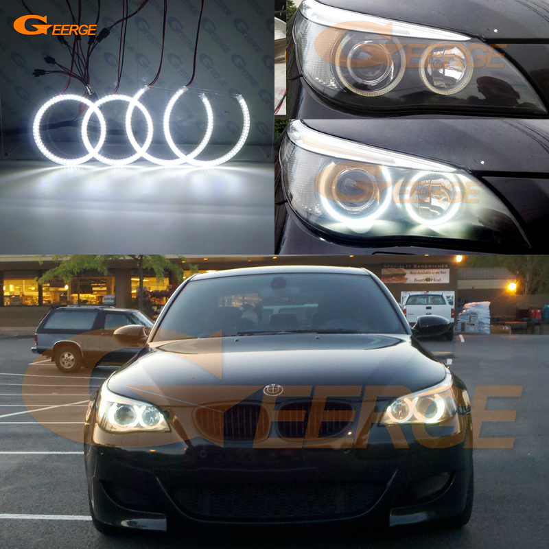 For BMW E60 E61 525I 530I 540I 545I 550I M5 2003-2007 Xenon Headlight Excellent Ultra bright illumination smd led angel eyes kit
