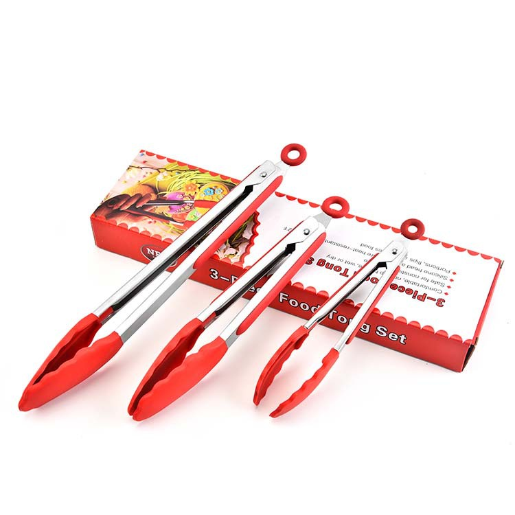 New silicone food clip 3 piece set kitchen household buffet barbecue Special offer sale