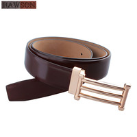 2019 HAWSON Genuine Leather Coffee Belts for Dress Personalized Buckle Adjustable Cowboy Men's Western Strap