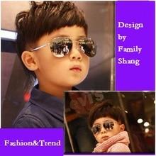 SOLO TU Fashion Baby Kids Colorful 2 Beams Sunglasses UV Protection Light Cosy Frame Trend Brand Designer Eyewear Glasses_SH361