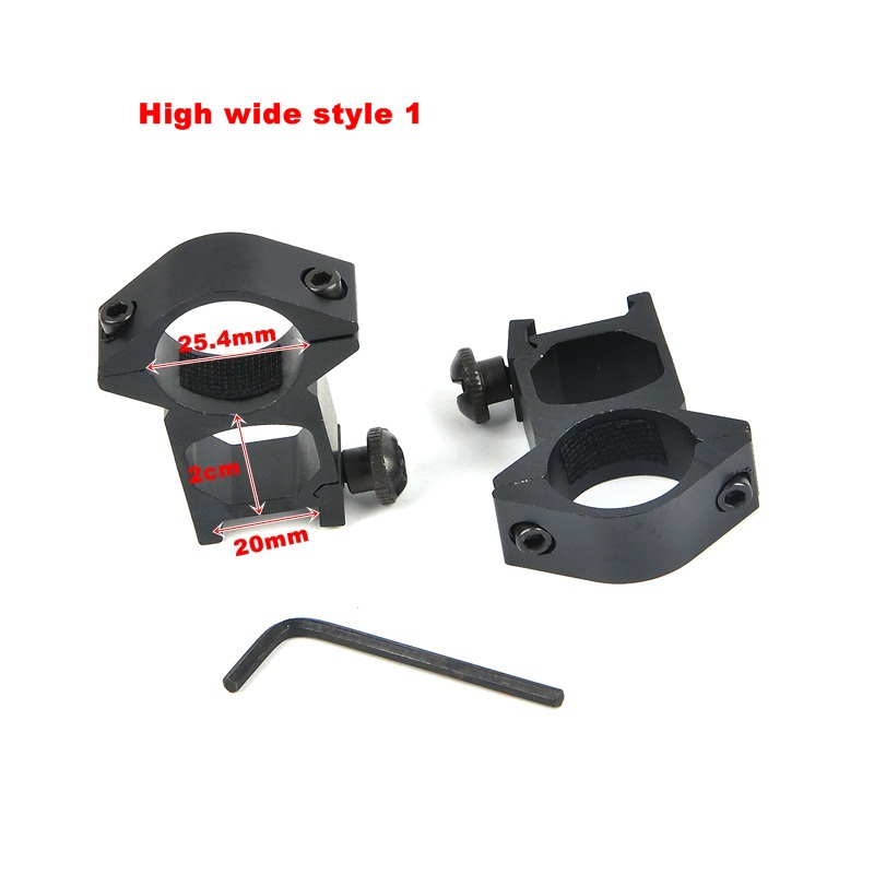 1Pair 30mm/25 4mm Rifle Scope Mount Ring Weaver 11mm / 20mm Base Rail Air  Rifle Hunting Dovetail Rail Caza Hunting Accessories