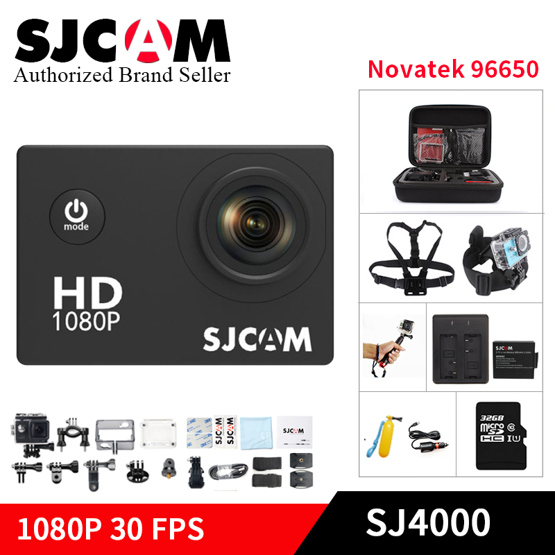 цена на SJCAM SJ4000 mini Action Camera Diving 30M Waterproof Camera 1080P Full HD Mini Helmet Camcorder sj cam yi 4000 Sport DV kamera