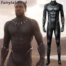 Druk 3D czarna pantera kombinezon dla dorosłych mężczyzn kostium karnawałowy lub halloweenowy czarna pantera przebranie na karnawał Superhero elastan kombinezon