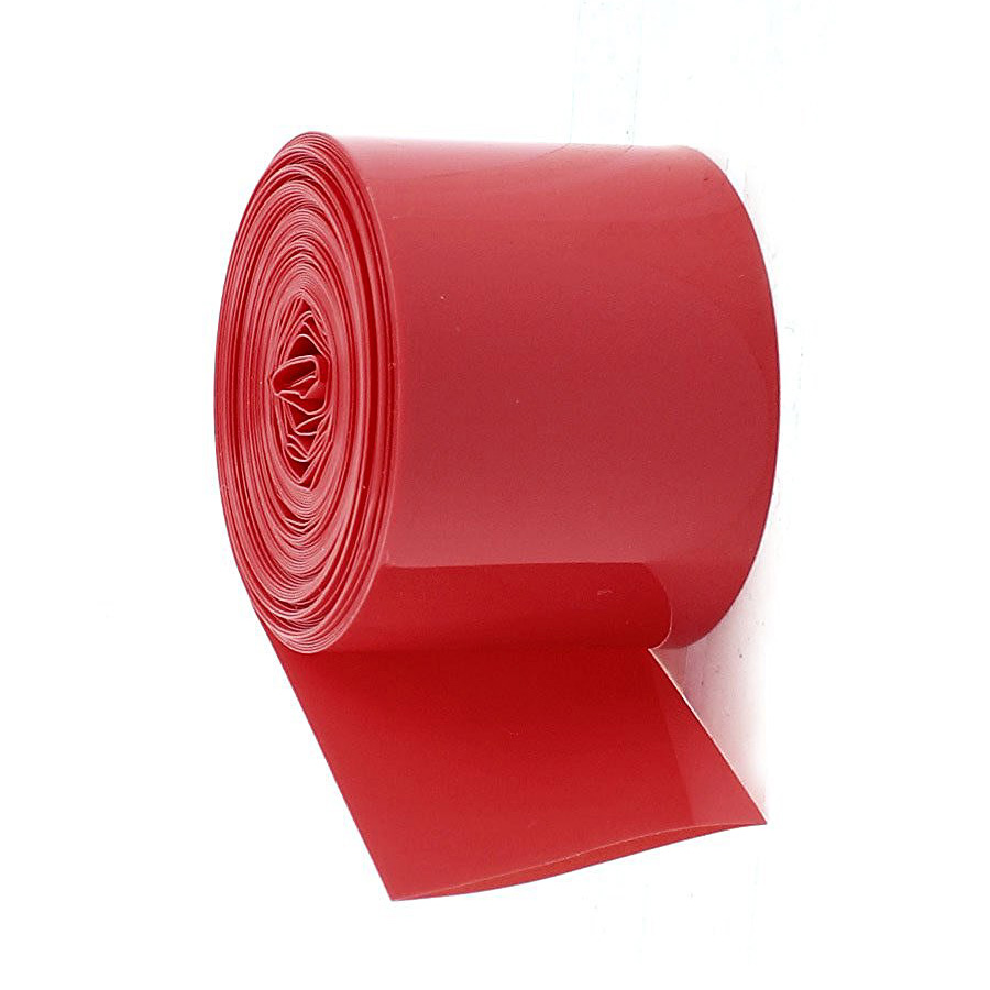 HHTL-5Meters 29.5mm Width PVC Heat Shrink Tubing Red for 1 x 18650 Battery
