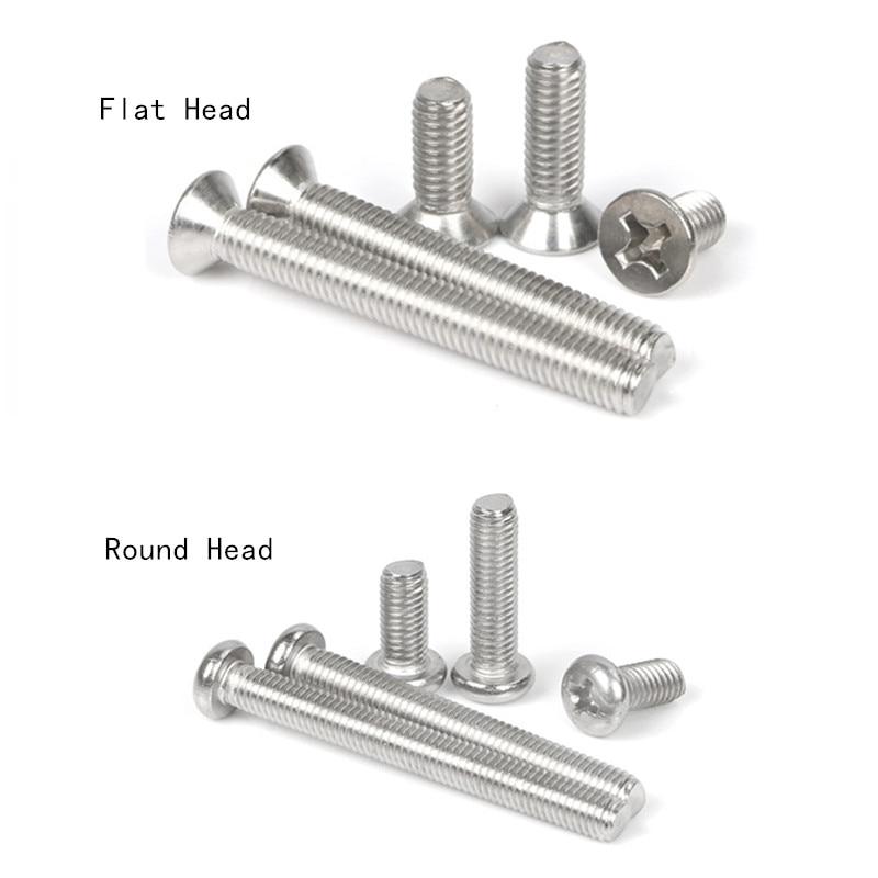 Countersunk Flat Head Cross Miniature Screw Bolt M1 M1.2 M1.4 M1.6*3//4//5//6//8//-12
