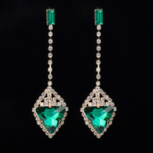 YFJEWE High Quality Luxury Multicolor Crystal Gem Earring Austrian Bling  Ladies Formal Dress Earrings Wedding Gifts E047 da4908a54feb