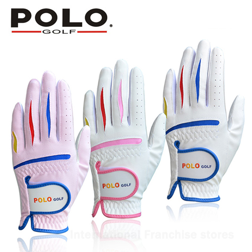 POLO Golf Childrens Sports Gloves Boys and girls Soft and Comfortable Golf Gloves Left and Right Hand breathable child Gloves