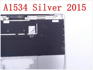 """Image 5 - Original IMIDO Topcase Space Silver  For Macbook 12"""" A1534 Top case with keyboard and backlight 2015"""