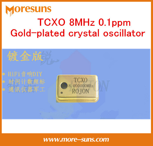 Fast Ship Livre temperatura-compensação de Alta precisão cristal oscilador TCXO 8 MHz ppm Ouro-banhado de cristal oscilador