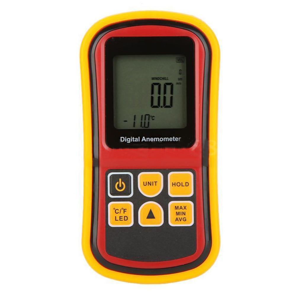 ФОТО BENETECH Digital LCD Handheld Anemometer Wind Speed Velocity Temperature Meter GM8901