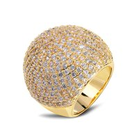New Arrival Big Cocktail Rings For Women Dome Ball Ship AAA Quality Cubic Zirconia Bridal Women
