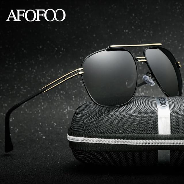AFOFOO New Men's HD Polarized Sunglasses Brand Designer Men Driving Fishing Sun glasses Male Mirror UV400 Shades Eyewear Goggle