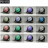 16pcs/ 12x12W led Par lights RGBW 4in1 flat par led dmx512 dj lights professional stage equipment