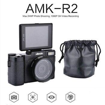 "AMKOV 1080P AMK-R2 DSLR Cameras 24MP HD Digital Camera Camcorder 3.0"" TFT Rotatable Screen Recording Wide-angle Lens 4x Zoom Cam"