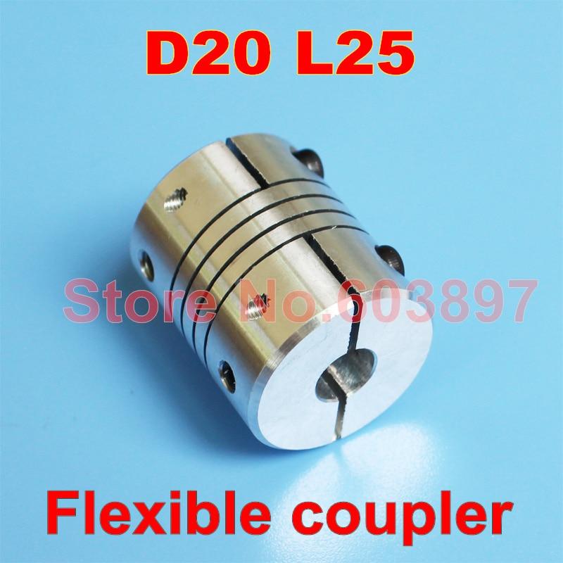 CNC Motor Shaft Coupler D20 L25 Flexible Coupling 6mm to 10mm
