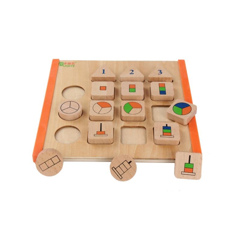 Learning Education Wooden Toys Children's Puzzle 3D Children's Educational Toys Montessori Puzzle Birthday Gift