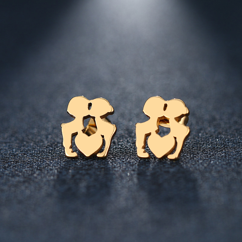 Dotifi Stainless Steel Stud Earring For Women Man Skull Gold And Silver Color Lovers Engagement Jewelry Drop Shipping Stud Earrings Back To Search Resultsjewelry & Accessories
