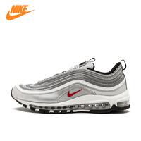 Nike Air Max 97 OG QS 2016 RELEASE Men's Running Shoes,Official New Arrival Genuine Breathable Sports Sneakers Outdoor Athletic