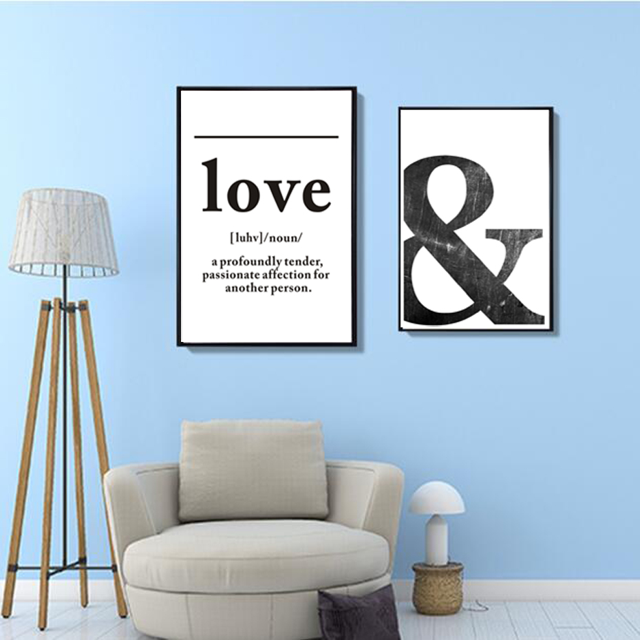 Sure Life Love Definition Wall Art Canvas Painting Black
