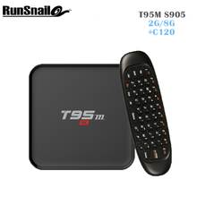 T95M Android Box + C120 Gaming keyboard Android Remote Control 2GB 8GB with Bluetooth model with LED display Support KODI 16.0