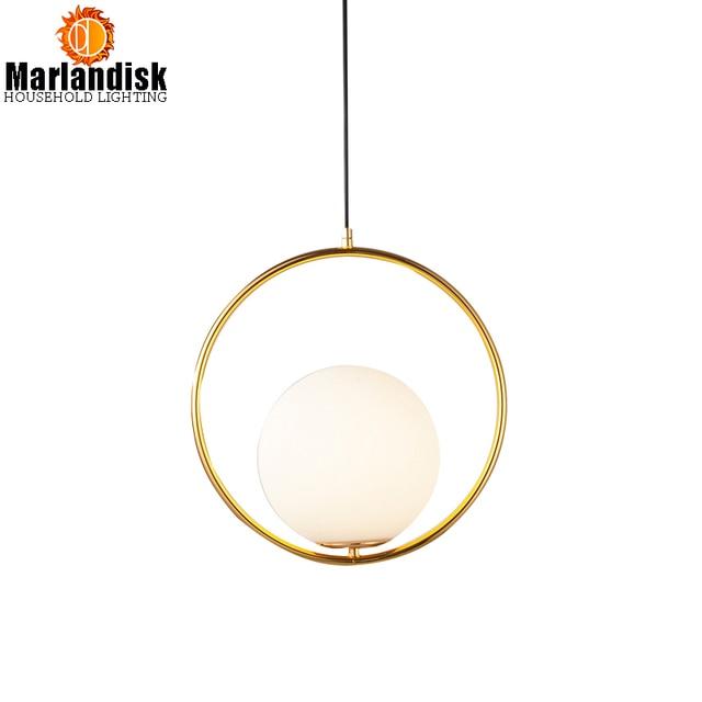 Modern Style Gold Metal Round Globe Pendant Lights Bar Restaurant ...
