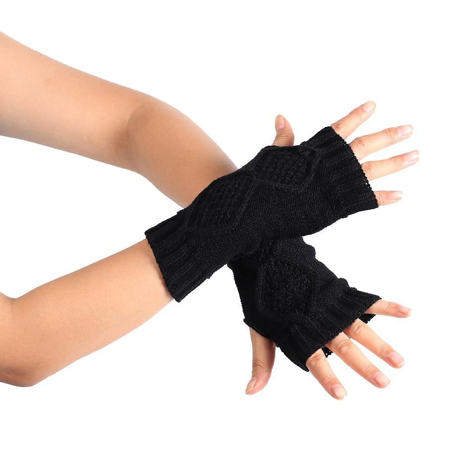 Driving gloves knitting pattern - Fashion Warm Winter Thick Gloves Knitted Women Driving Gloves Fingerless Mitten Luvas Feminina Guantes Mujer Girls