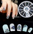 3d nail art decoration glitter rhinestones jewelry alloy strass sticker