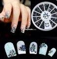 Joyería de la aleación 3d nail art decoration glitter rhinestones strass sticker
