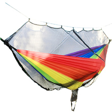 Mosquito net parachute hammock outdoor with mosquito