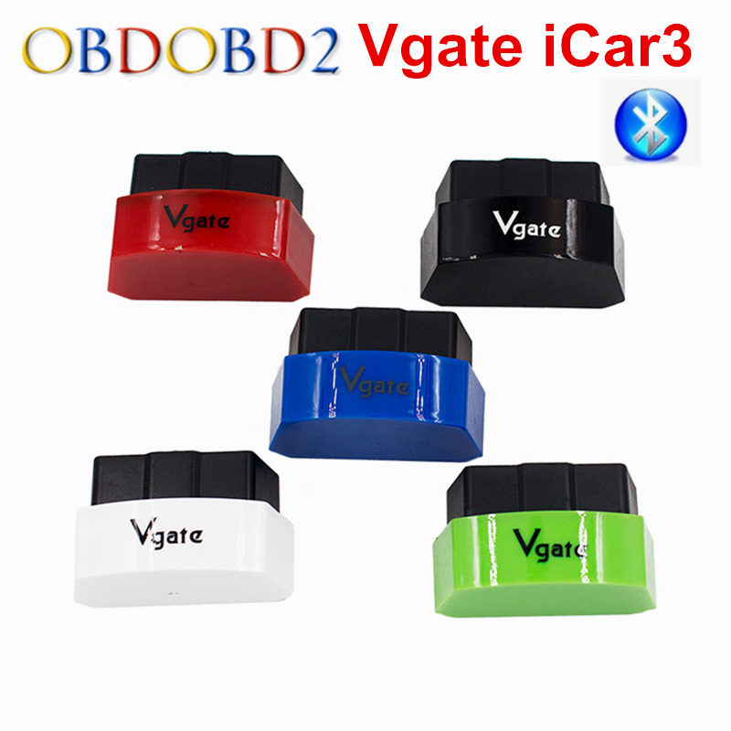 ELM327 Bluetooth Vgate iCar3 Bluetooth OBD OBD2 Diagnostic Interface Vgate iCar 3 ELM 327 Bluetooth For Android/PC OBD2 Scanner вода ducray иктиан увлажняющая мицеллярная вода 400 мл