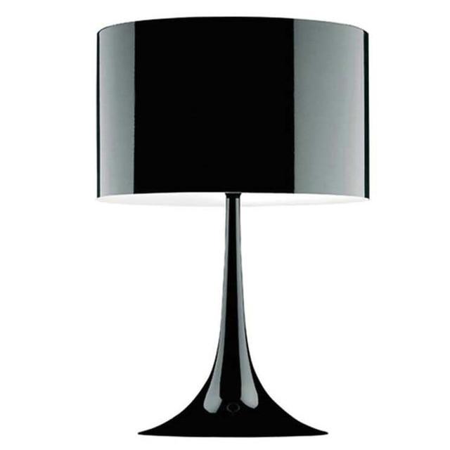 Small Gentleman Table Lamp 500mm 300mm Black White Modern Lampshade Living Room Bedroom Decor