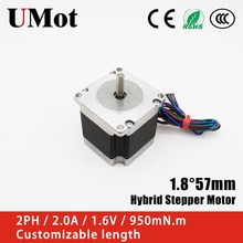 цена на Nema 23 Stepper Motor 1.8 Degree 2PH 2A 950m.Nm 57mm Nema23 Hybrid Stepper Motor
