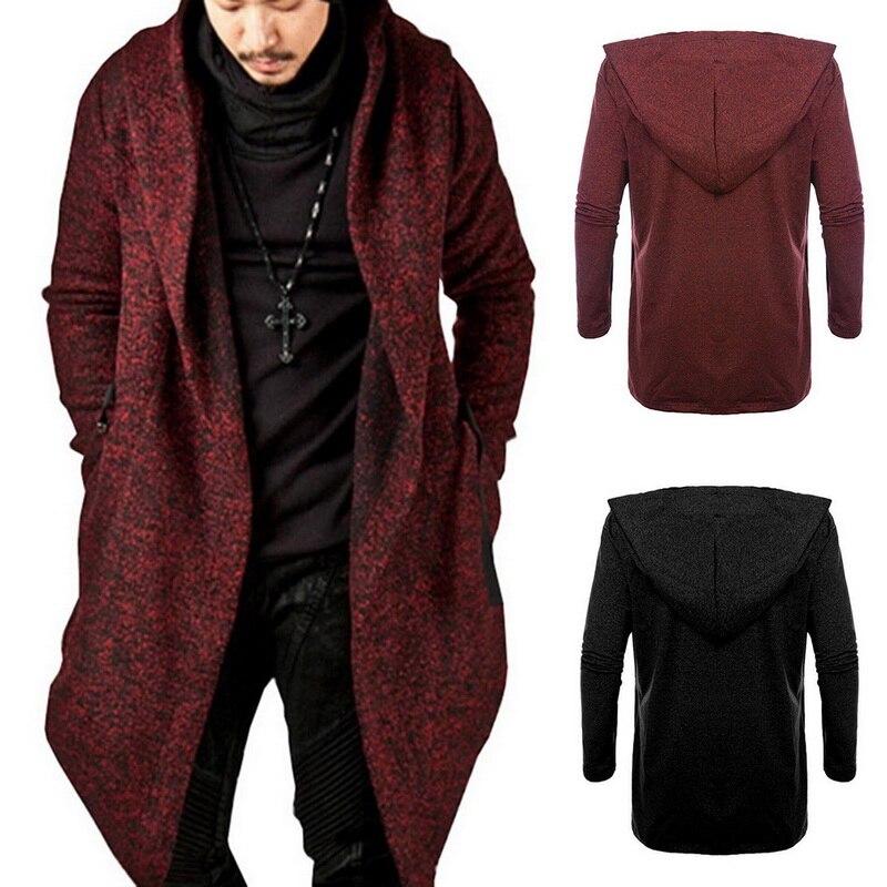 Men Hooded Sweatshirts Black Hip Hop Mantle Hoodies Fashion