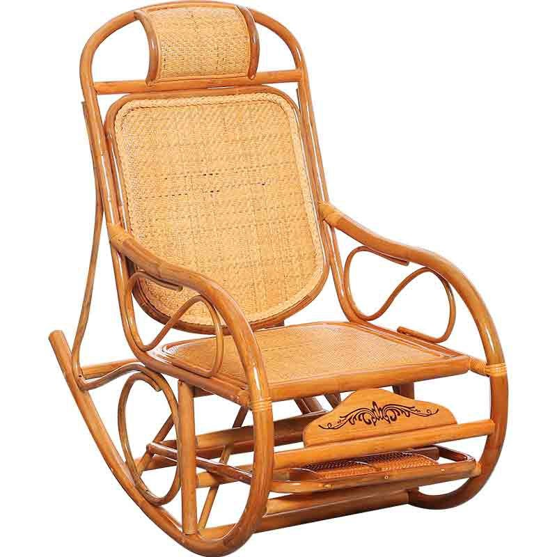 29%,Natural plant rattan Rocking Chair Rattan Wicker Furniture Indoor Living Room Glider Recliner Modern Rattan Easy Chair