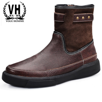 a138f19d4bc Бархатные зимние ботинки из воловьей кожи