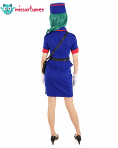 Image 3 - Officer Jenny Cosplay Costume Dress Woman Blue  Skirt Outfits