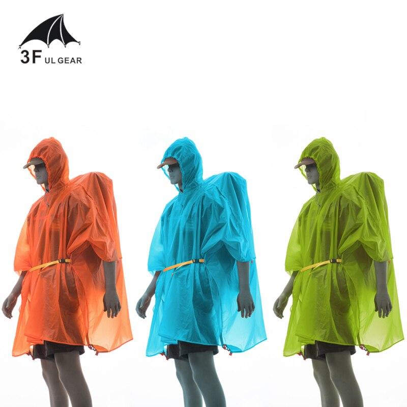 brand 3F UL GEAR outdoor waterproof riding hiking camping climbing ultralight raincoat raincover footprint tarp 3 in 1 rain ponc|outdoor waterproof|brand hiking|hiking brand - title=