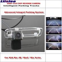 Liislee Intelligentized Reversing Rear Camera For KIA Rio JB / Rio5 / Rio Xcite 2005~2011 Rear View / Dynamic Guidance Tracks jb t 11106 2011