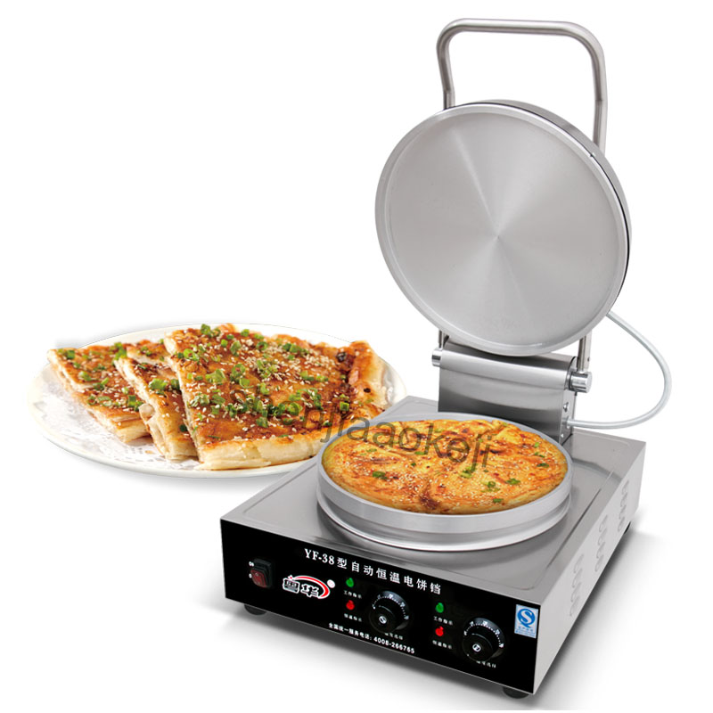 Stainless steel Electric baking pan pancake machine commercial/household Hand desktop pancake machine 220V 3000W 1pc 1pcs new arrival 40cm pan pancake griddle stove lpg commercial pancake machine pancake stove ship to your home