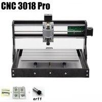 CNC 3018 Pro контроллер grbl ER11 Diy мини ЧПУ, 3 оси печатных плат фрезерный станок, дерево маршрутизатор, лазерная гравировка