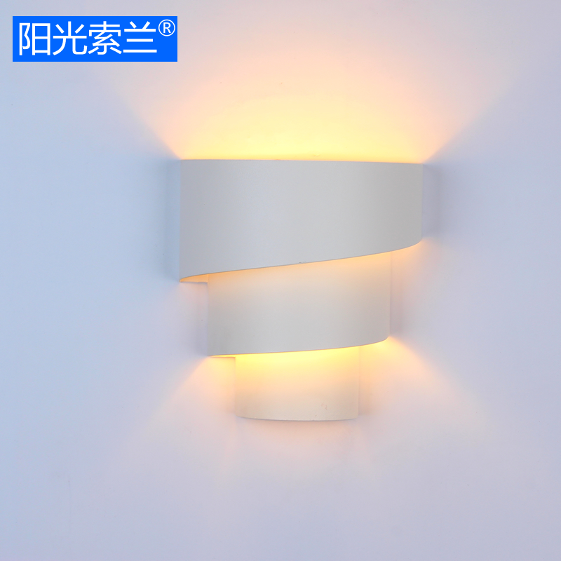 Modern simple lighting Artistic metal wall lamp White painted for living room study room office bedroom corridor E27 Wall light 2 color northern europe metal wall lamp modern simple minimalism iron wall lighting fixtures for living room aisle