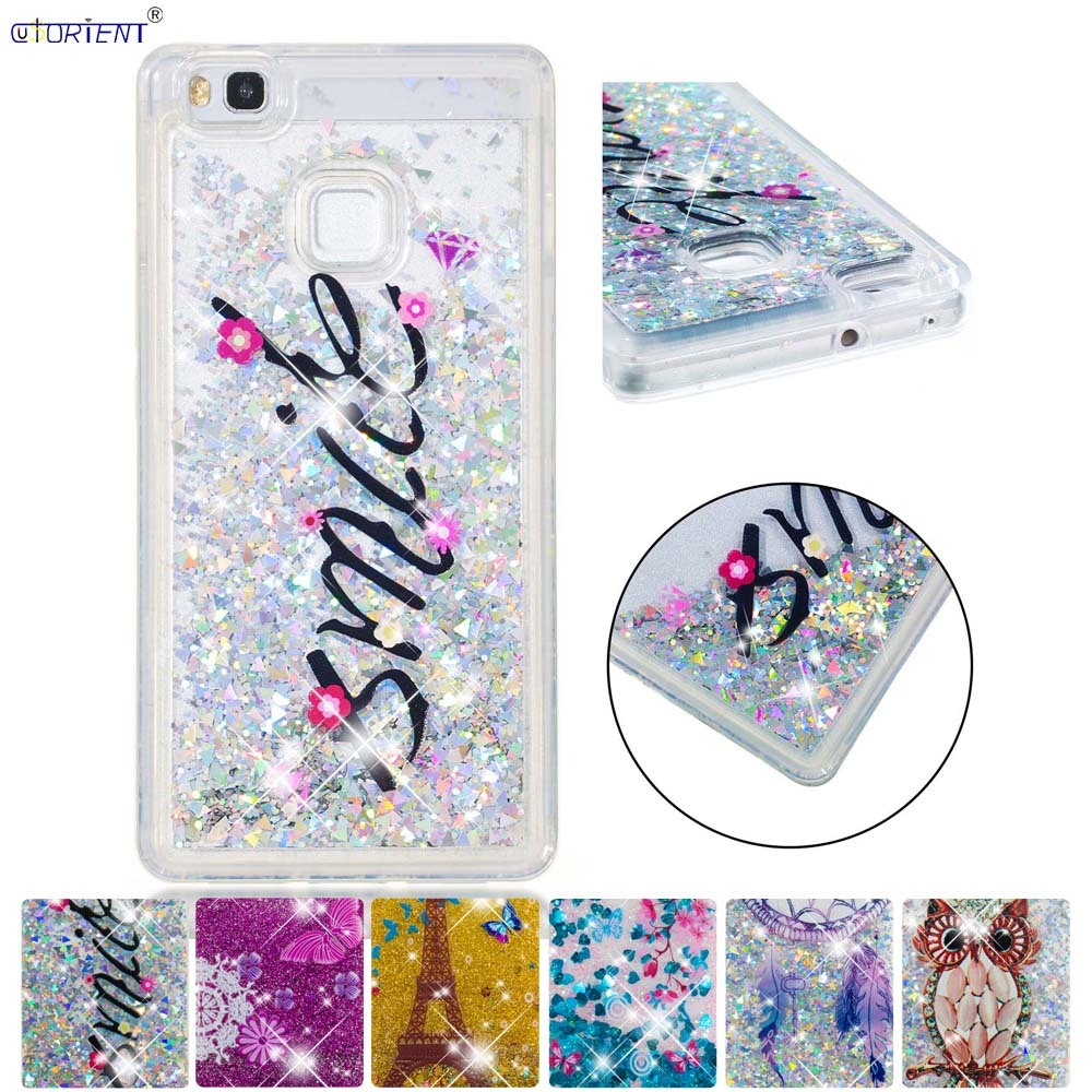 Phone Bags & Cases Discreet For Huawei P9 Lite Glitter Stars Dynamic Liquid Quicksand Tpu Cover Phone Case Huawei P 9 Lite Vns-l21 Vns-l31 Vns-l53 L22 Funda Cheap Sales 50% Half-wrapped Case