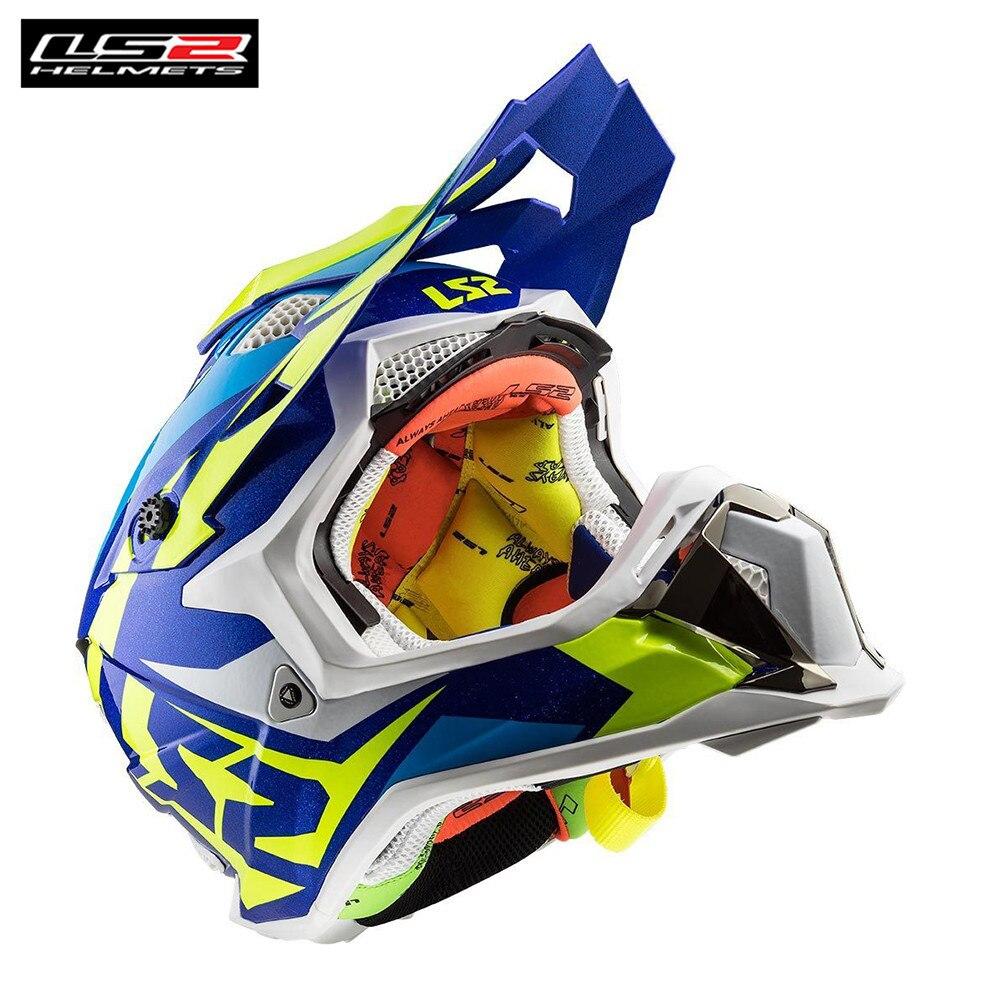 LS2 MX470 PERTURBATEUR Motocross Casque pour Moto Dirt Bike VTT Vtt DH MX Off Road Capacetes Casques