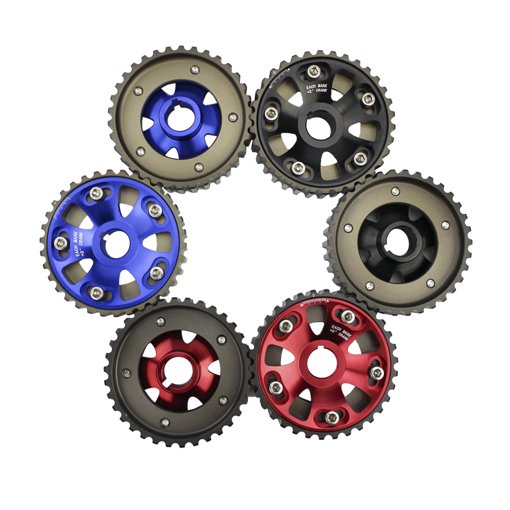CNSPEED Free shipping 2pcs Adjustable DOHC Cam Gear Alloy Timing Gears For Honda Civic B16 B16A B16B CAM PULLEY PULLYS GEARS