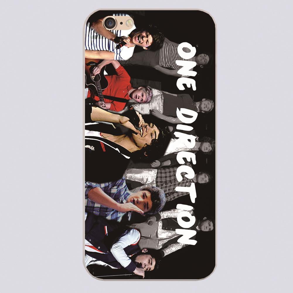 One Direction Wallpaper Design Black Skin Phone Cover Cases For