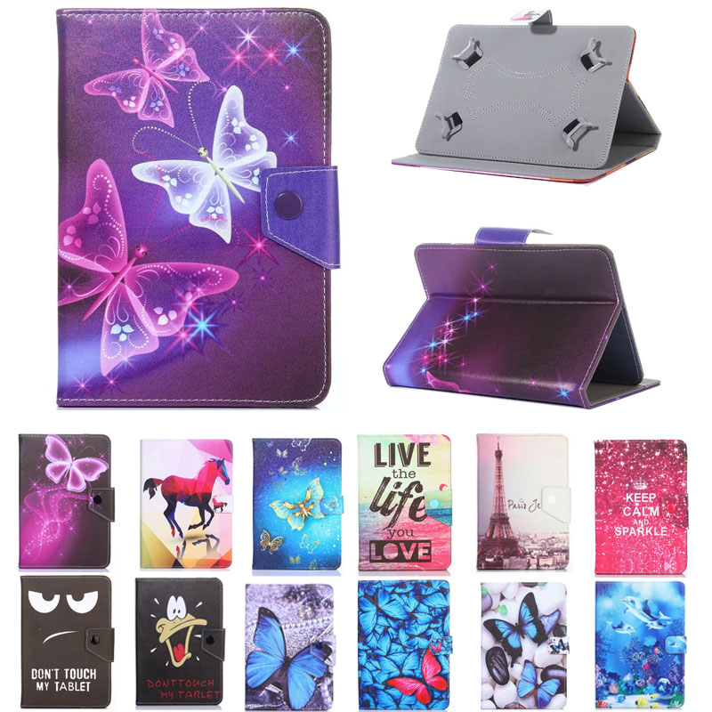 Myslc Universal Printed PU Leather Stand Case for Digma Optima 7552M /7700T/<font><b>7580S</b></font>/7563N /7201/7202/7305S/7504M 3G 7 inch Tablet image