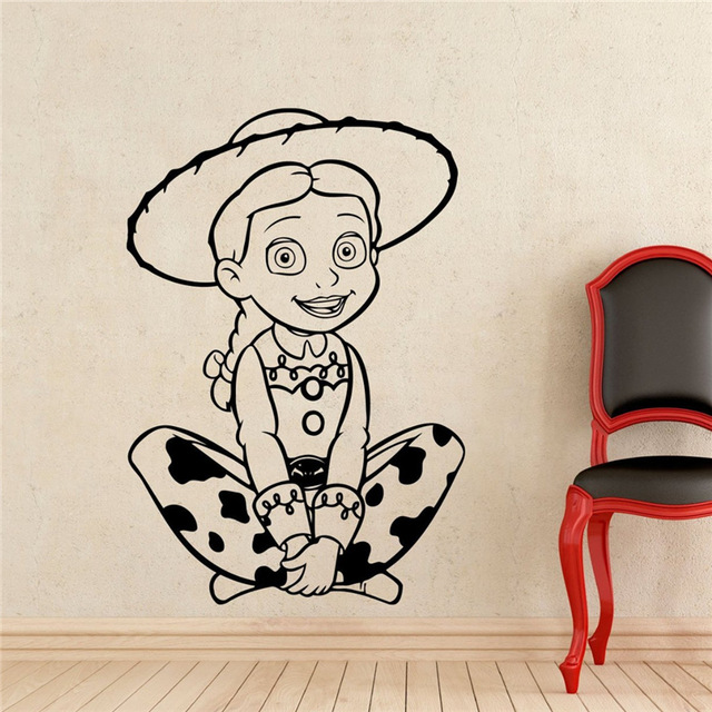 Wall Decal Removable Sticker Custom Name Home Garden Woody Toy