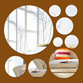 real rushed big diy mirror 3d wall stickers home decoration bedroom decor living room decorative sticker free shipping