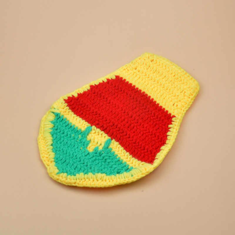 Crochet Robin Sidekicke Mặt Nạ & Cap Set Crochet Bé Sơ Sinh Phim Hoạt Hình Halloween Trang Phục Trẻ Sơ Sinh Coming Home Trang Phục MZS-16001