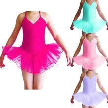 2fec64fffeb7 Child Girls Ballet Tutu Gymnastic Leotard Dance Dress Sleeveless Kids  Dancewear Clothing Princess Ballerina Fairy Party